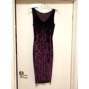 Beautiful deep purple velvet dress